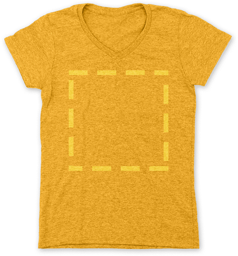 Tee with square